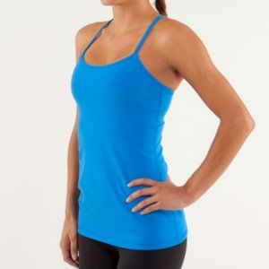 NWOT Lululemon Blue Turquoise Power Y Tank Top